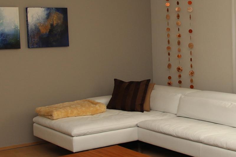 Der perfekte Hintergrund für weisse Möbel
